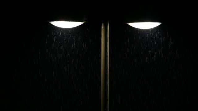 Luce stradale e pioggia