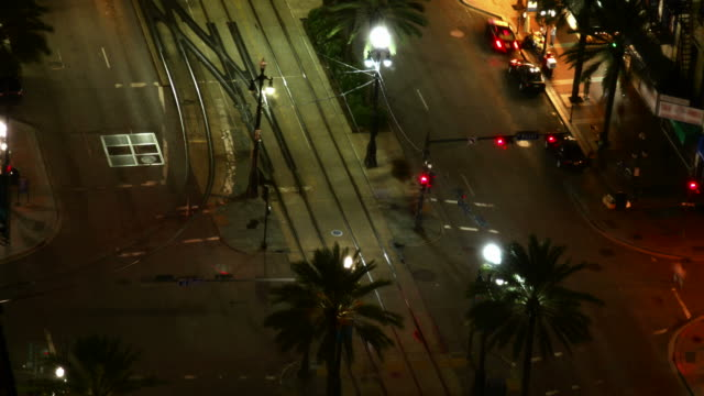 Strada di notte, Time lapse di New Orleans