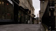 Street of shops in Bath. Available in HD.