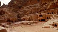 Street of Tombs in the rock city Petra / Jordan