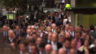 Street rush-hour in London