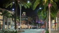 WS Street scene at night / Hollywood, Los Angeles, California, USA