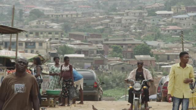 Street scenes from a Lagos slum, Nigeria.