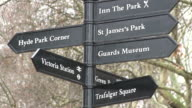 MS Street signs at green park / London, Great Britain