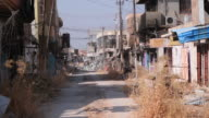 A street that was partially destoyed during the offensive to recapture the city of Mosul from Islamic State militants on October 23 2016 in Bartella...