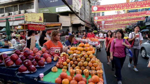 Street vendor at busy Yaowarat Road