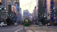 Street view of  downtown Hiroshima Japan