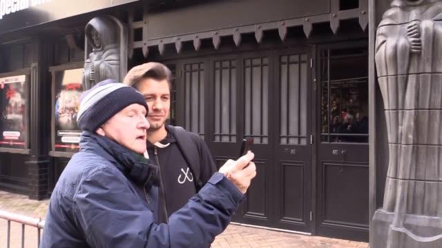 Strictly Come Dancing's Brendan Cole Aljaz Skorjanec Pasha Kovalev and Anton du Beke meet fans outside Blackpool Tower ahead of the show