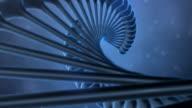 DNA String on Blue Background