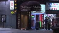 MS, Strip club Flash Dancers  entrance, Broadway & 52nd Street, New York City, New York, USA