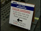 Strip clubs and police in Soho Police sign warning potential lapdancing club customers 'It will only cost you five pounds to enter one of these...
