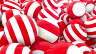 Stripey Red & White Spheres - 4 videos in 1