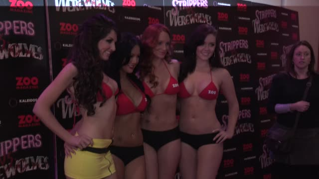 Strippers vs Werewolves World Premiere at Apollo Piccadilly Circus on April 24 2012 in London England