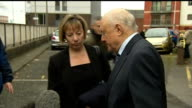 Stuart Hall sentenced to 15 months in jail for indecent assaults LIB PHOTOGRAPHY*** Stuart Hall from court with solicitor Louise Straw and statement...