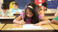 MS Student doing schoolwork in class / Richmond, Virginia, United States