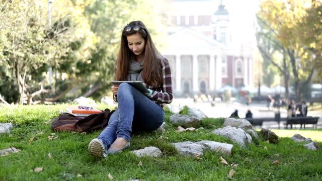 Student girl studying
