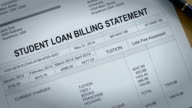 Student Loan Past Due Statement and Bill