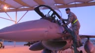 Student pilots from the 149th Fighter Wing from Lackland AFB TX prebrief and taxi for takeoff to fly F16D Fighting Falcons for Coronet Cactus a...