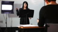 Student presentation examination