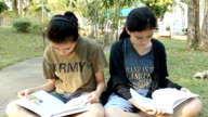 Student Reading-Outdoor