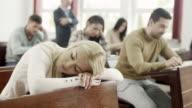 Student Sleeping in Classroom