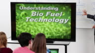 WS TU Students and Professor Watching Video on Bio Fuel Technology / Richmond, Virginia, United States
