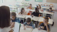 Students Back to School Montage 4K Slow Motion Classroom Entering