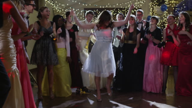 WS Students (12-18) dancing on prom night / Cedar Hills, Utah, USA