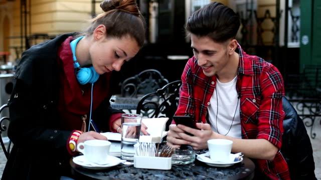 Students in a coffee break
