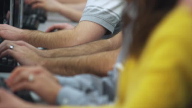 ECU R/F TU Students in college computer lab, Orem, Utah, USA
