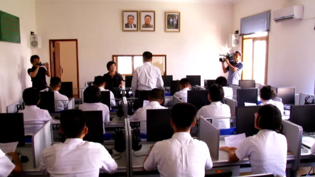 Students study Japanese at the Pyongyang University of Foreign Studies in the North Korean capital on Sept 10 2015 The number of students majoring in...