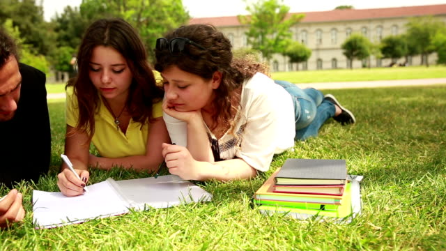 Students studying at the campus