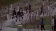 PAN Students walking around on college campus / Santa Clarita, California, United States