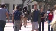 KTLA Students Walking Around USC Campus