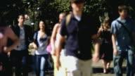 MS SELECTIVE FOCUS Students walking in Santa Barbara City College campus / California, USA