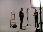 Studio Licht Bestuhlung und schießen -Time Lapse