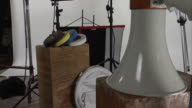 Studio setup with a clapping slate HD