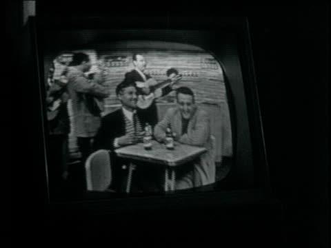 TV Studio shooting national hit Bar Cristal / actors singers and cameramen on set TV Stars shoot national hit in Peru Bar Cristal on May 22 1959 in...
