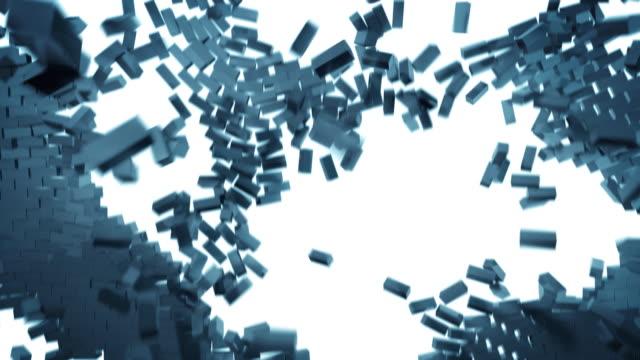 Stilisierte brickwall explosion