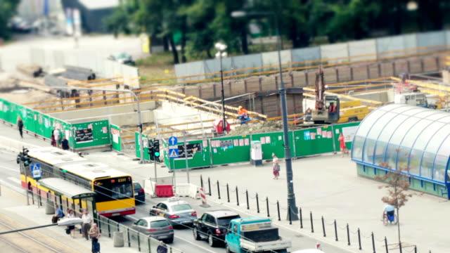 Subway construction site