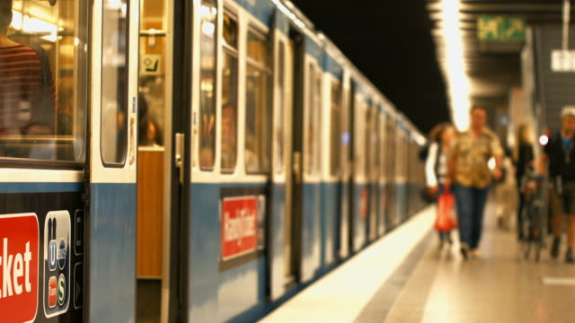 Subway Train Waiting For Departure