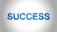 Success Symbol made by Blue Butterflies - Alpha
