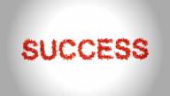 Simbolo di successo fatta da arancione farfalle-alfa