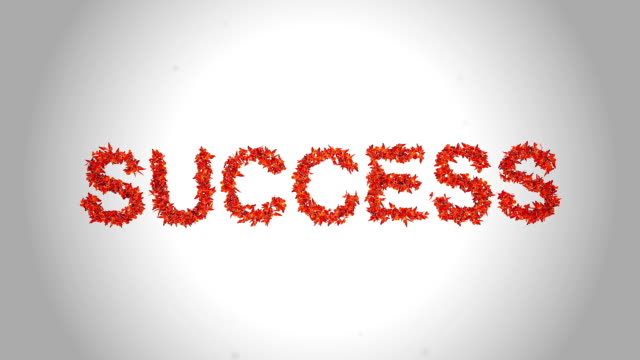 Success Symbol made by Orange Butterflies - Alpha