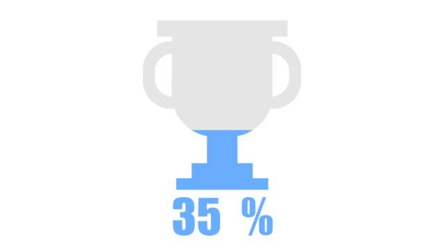 Success trophy inforgraphic design element