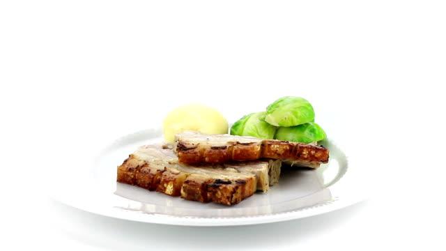 Delizioso arrosto di maiale Filetto di manzo