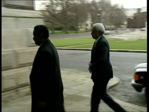 Sudanese Diplomatic Expulsion ENGLAND London Foreign Office MS Car pulls up CMS ENG cameraman at work CMS Sudanese charge d'affaires Abdul Rahman...