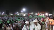 Sudanese people gather in AlSaha alKhadra square during an event in support of the AlAqsa Mosque and to protest Israeli recent violations on July 29...
