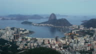 T/L, WS, HA, Sugarloaf Mountain and Guanabara Bay, Rio de Jaineiro, day to night, Brazil