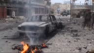 3 suicide bombers affiliated with ISIL terrorist group attack security forces to capture Qasr Hotel in Iraq's Kirkuk on 30 January 2015 Security...